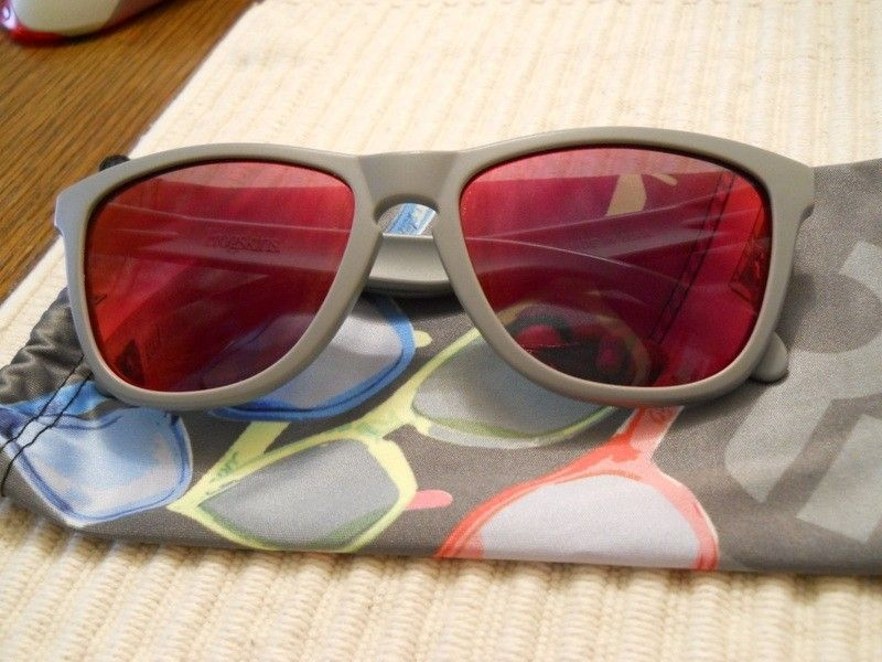 Matte Grey Oakley Frogskins With Ruby Lenses - 009rhz.jpg