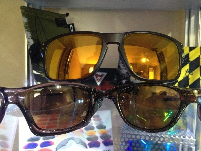 oakley polarized gold iridium lenses
