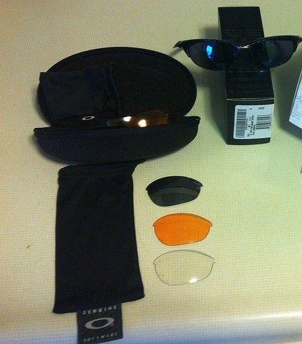 Price Drop $100 Half Jacket 1.0 Carbon Fiber With Ice, Black Iridium, Persimmon And Clear Lenses. - 10969924453_1179ab752b.jpg
