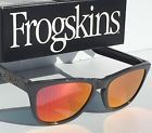 NEW* Oakley Frogskins Grey Polished Frame w Ruby Iridium Sunglass 9013-31 - 140.jpg