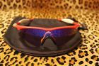RARE VINTAGE OAKLEY RED M FRAME PRO SUNGLASSES BLUE IRIDIUM SWEEP AUTHENTIC  SI - 140.jpg
