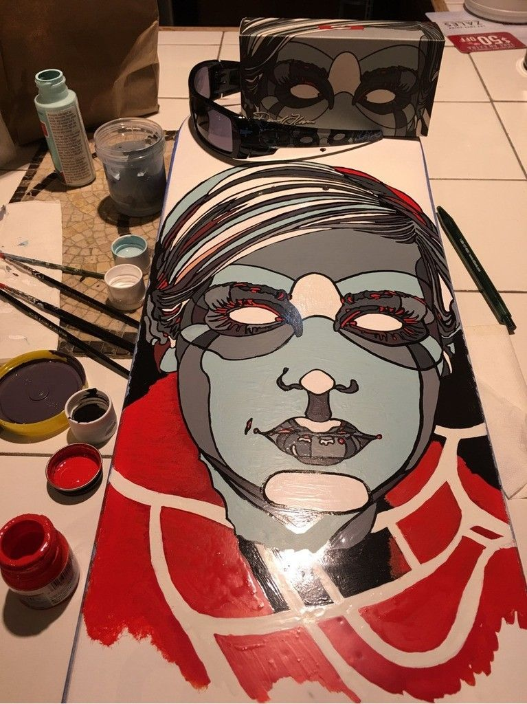 V2oak's 14th DIY: Custom David Flores Art REPLICA skate deck - 1_zpseg8rs1q7.jpg