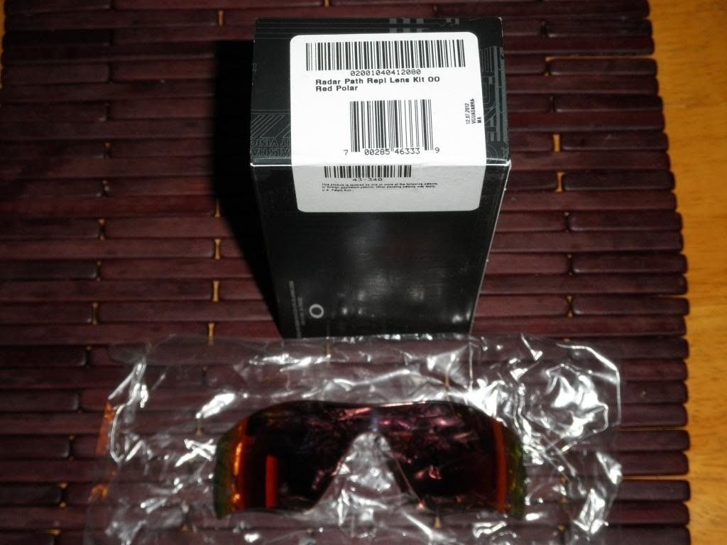 Radar Path Red OO Polarized Iridium Replacement Lenses BNIB - 2012-12-12045205.jpg
