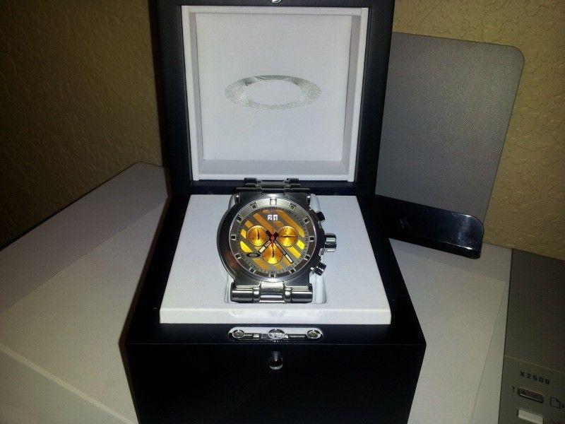 Oakley Orange Dial HOLLOWPOINT Watch - 20120621_072429.jpg