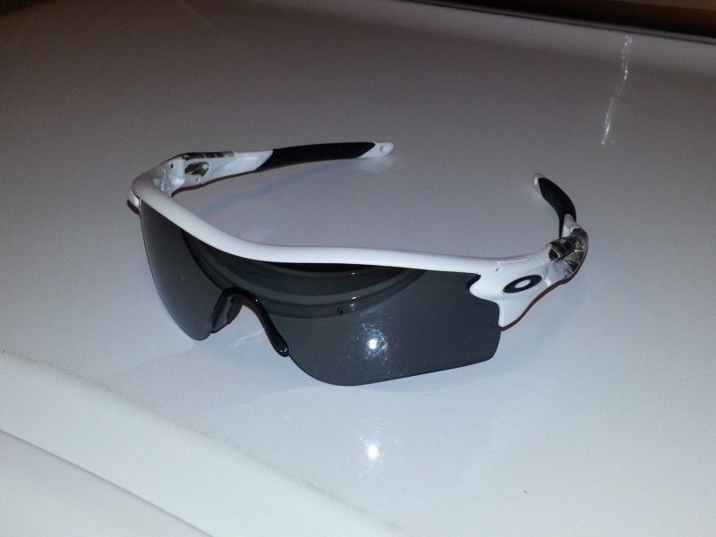 CUSTOM RADARLOCK Matte White Black Inserts Black Iridium POLARIZED - 20120827_210753.jpg