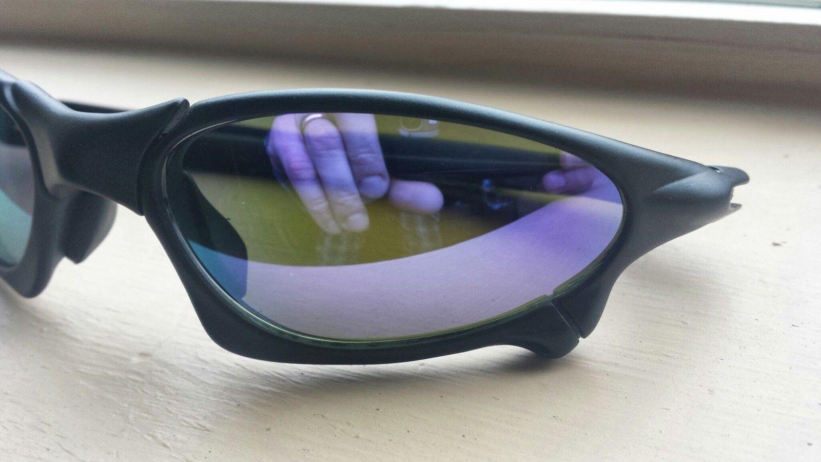 X-Man Custom Penny Sunglasses Matte Black Frame Violet Lenses - 20140407_114932.jpg