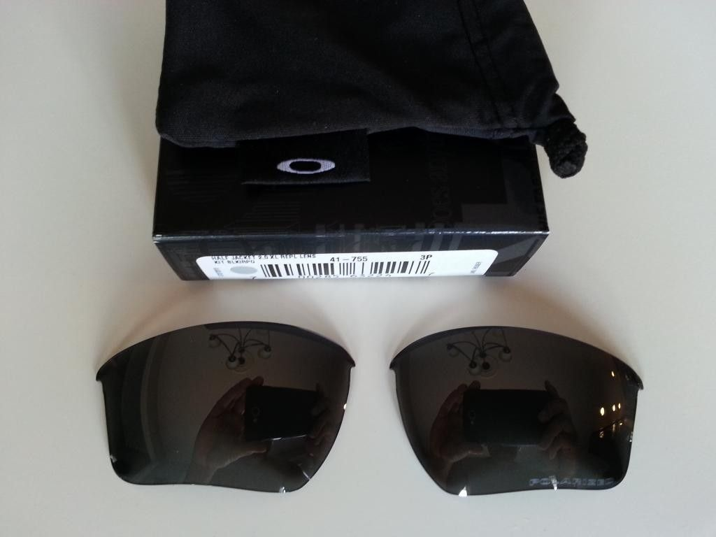 Black Iridium Polarized XL Lenses Half Jacket 2.0 - 20140512_121255.jpg
