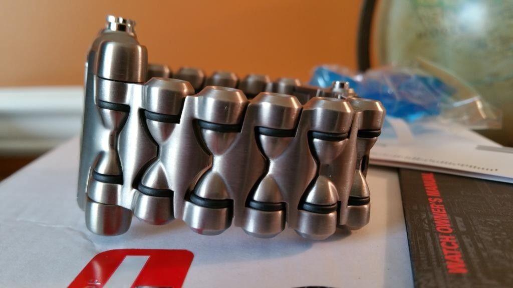 Minute Machine Black Dial Titanium Bracelet SOLD - 20141125_153116.jpg