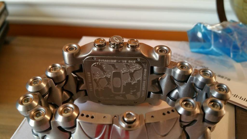 Minute Machine Black Dial Titanium Bracelet SOLD - 20141125_153208.jpg