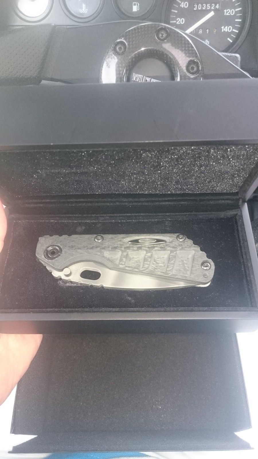 Oakley Knife Elite Strider Machined Carbon Fiber SNG with camo blade - 2015-07-15 15.58.34.jpg