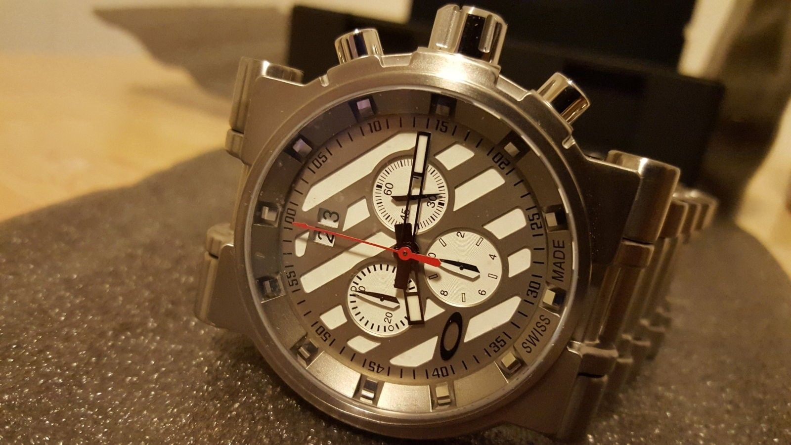 BNIB White Dial Hollow Point Watch $980 Shipped - 20160326_191647.jpg