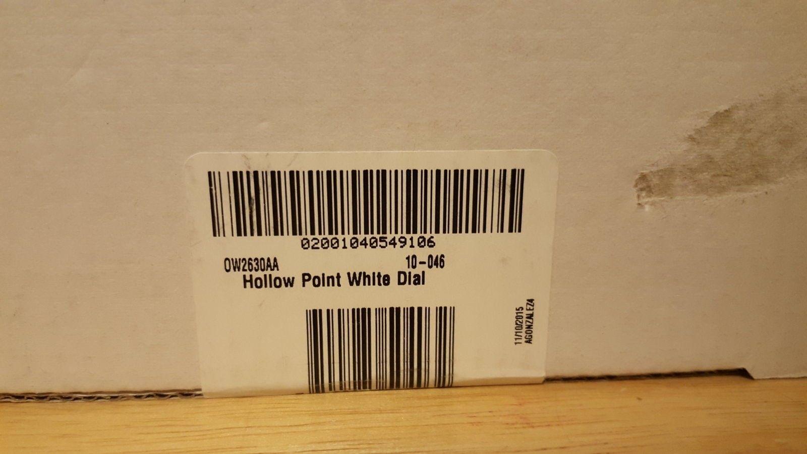 BNIB White Dial Hollow Point Watch $980 Shipped - 20160326_191742.jpg