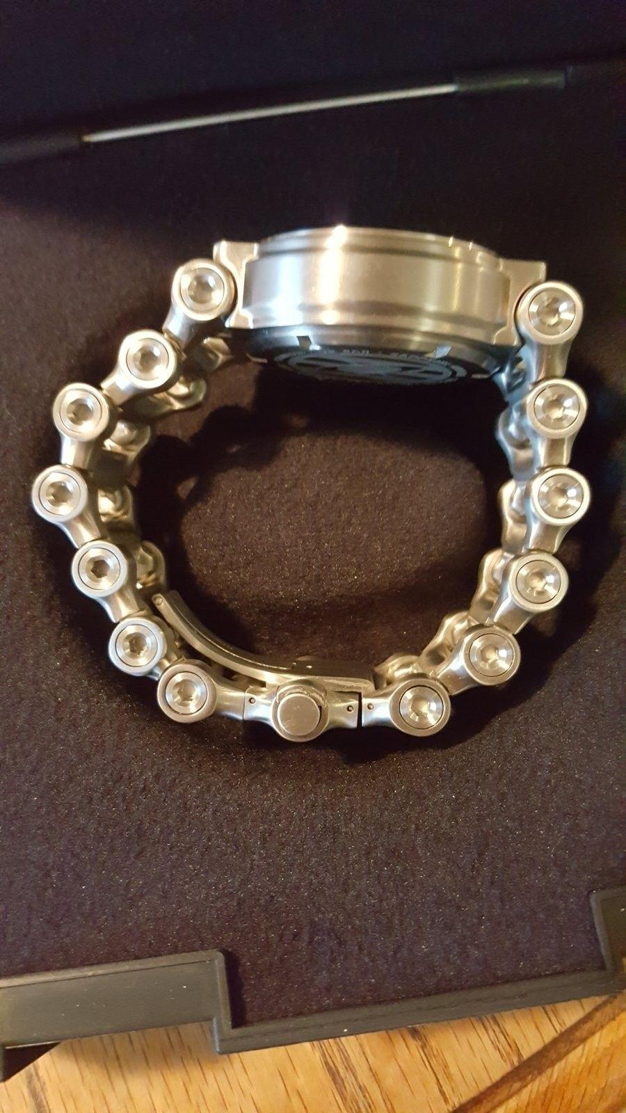 Oakley Men's 10-047 Hollow Point Orange Dial Watch $975 --> $950 - 20160504_181120.jpg