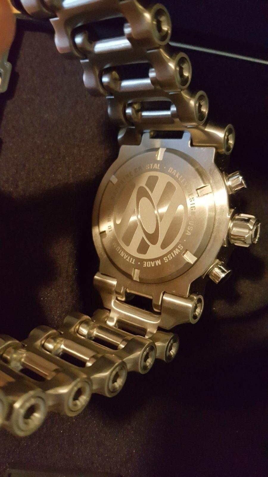 Oakley Men's 10-047 Hollow Point Orange Dial Watch $975 --> $950 - 20160504_181139.jpg