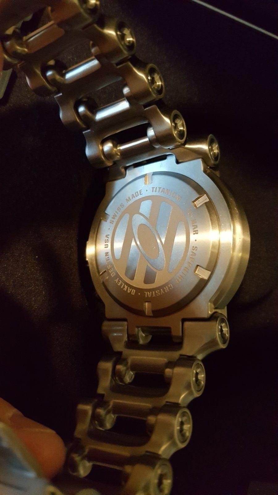 Oakley Men's 10-047 Hollow Point Orange Dial Watch $975 --> $950 - 20160504_181151.jpg