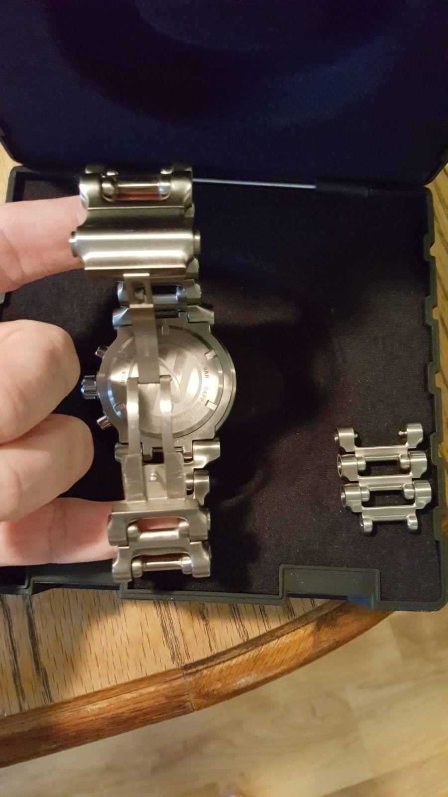 Oakley Men's 10-047 Hollow Point Orange Dial Watch $975 --> $950 - 20160504_181203.jpg