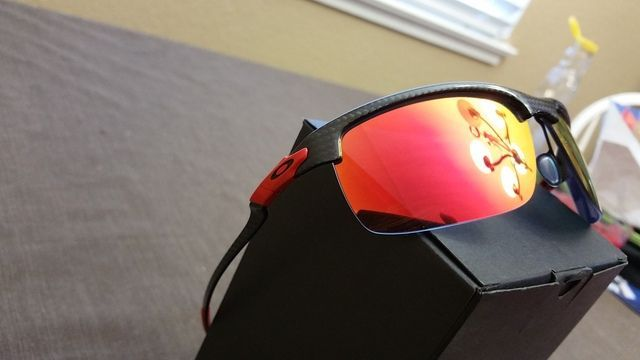 $185 OBO Ferrari Carbon Blade Polished Carbon Fiber Ruby Iridium Polarized - 20160611_133550_zpssprwxv1x.jpg