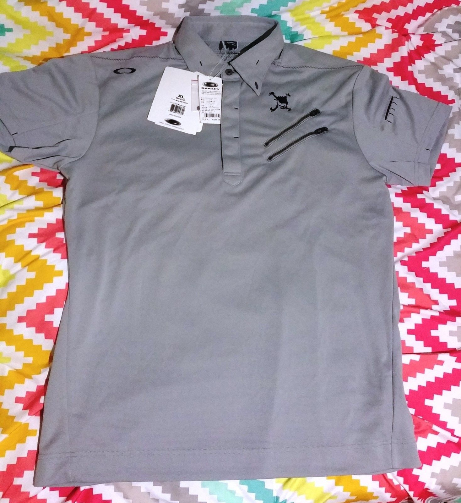 OAKLEY skull polo shirt - 20160706_211643.jpg