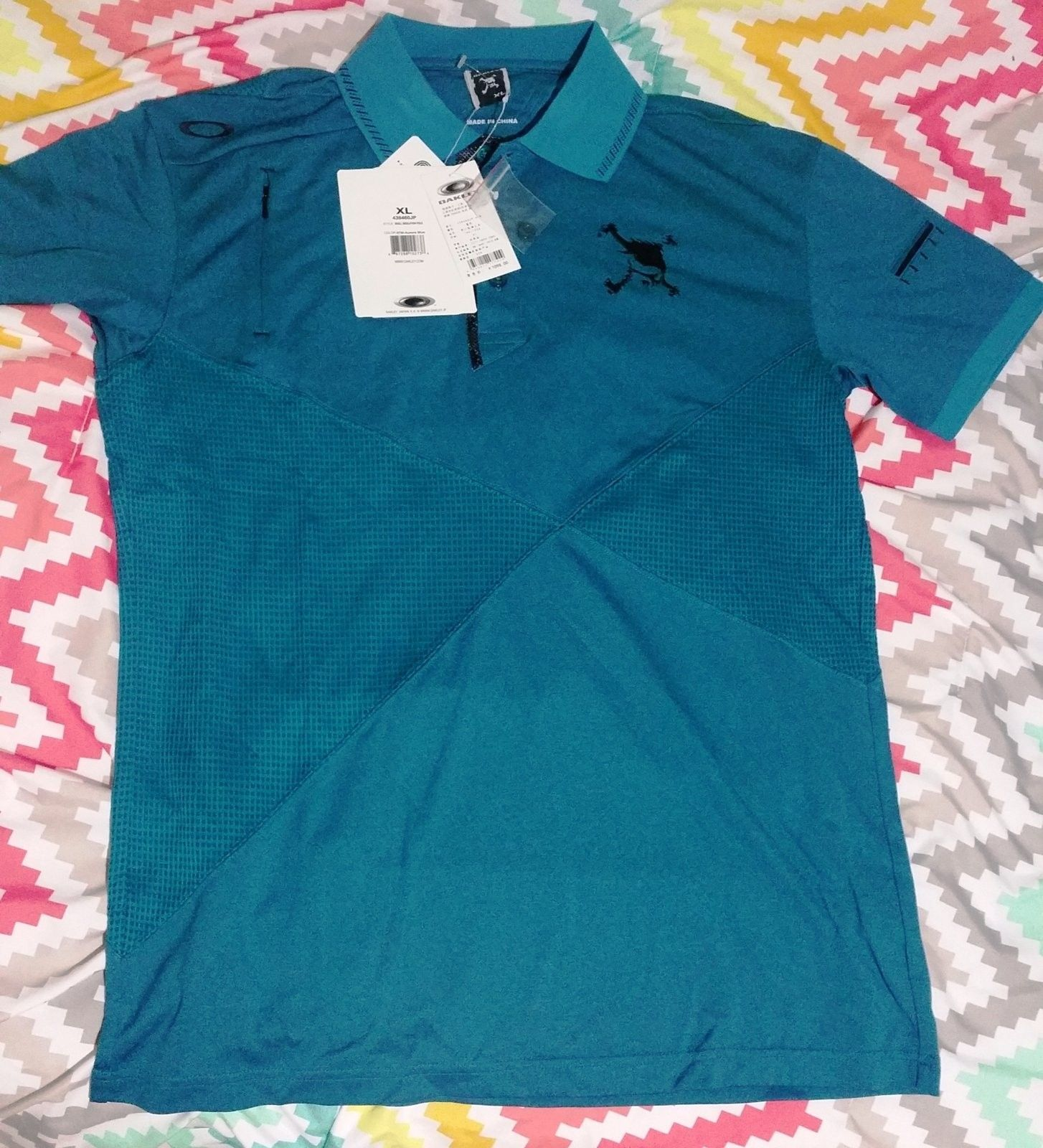 OAKLEY skull polo shirt - 20160706_211759.jpg