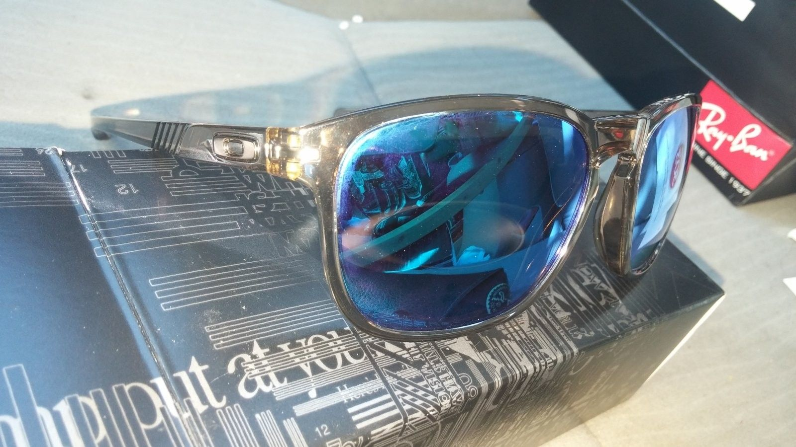 Trade for Jupiter squared lenses ...Oakley Enduro need to sell.   Asap .  Sepia with blue lenses - 20160823_161035.jpg