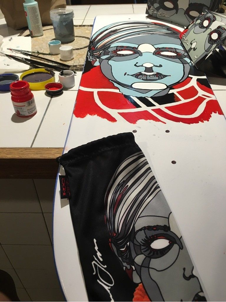 V2oak's 14th DIY: Custom David Flores Art REPLICA skate deck - 2_zpsxdtpimoa.jpg