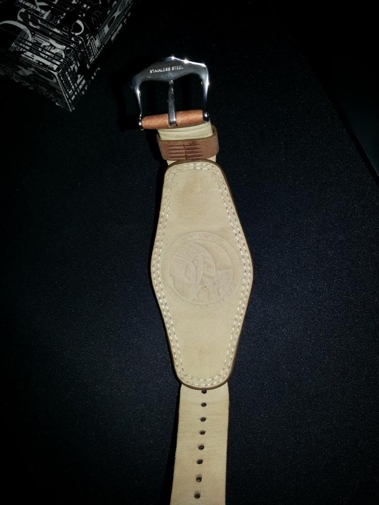 /WTS Oakley Jury Ladies Watch | Polished W Brown Saddle-back - 319_zps667e795c.jpg