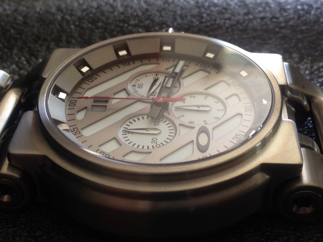 NEW IN BOX Hollow Point Titanium Watch White Dial 10-046 REDUCE PRICE 1,250 or Best Offer - 4.JPG