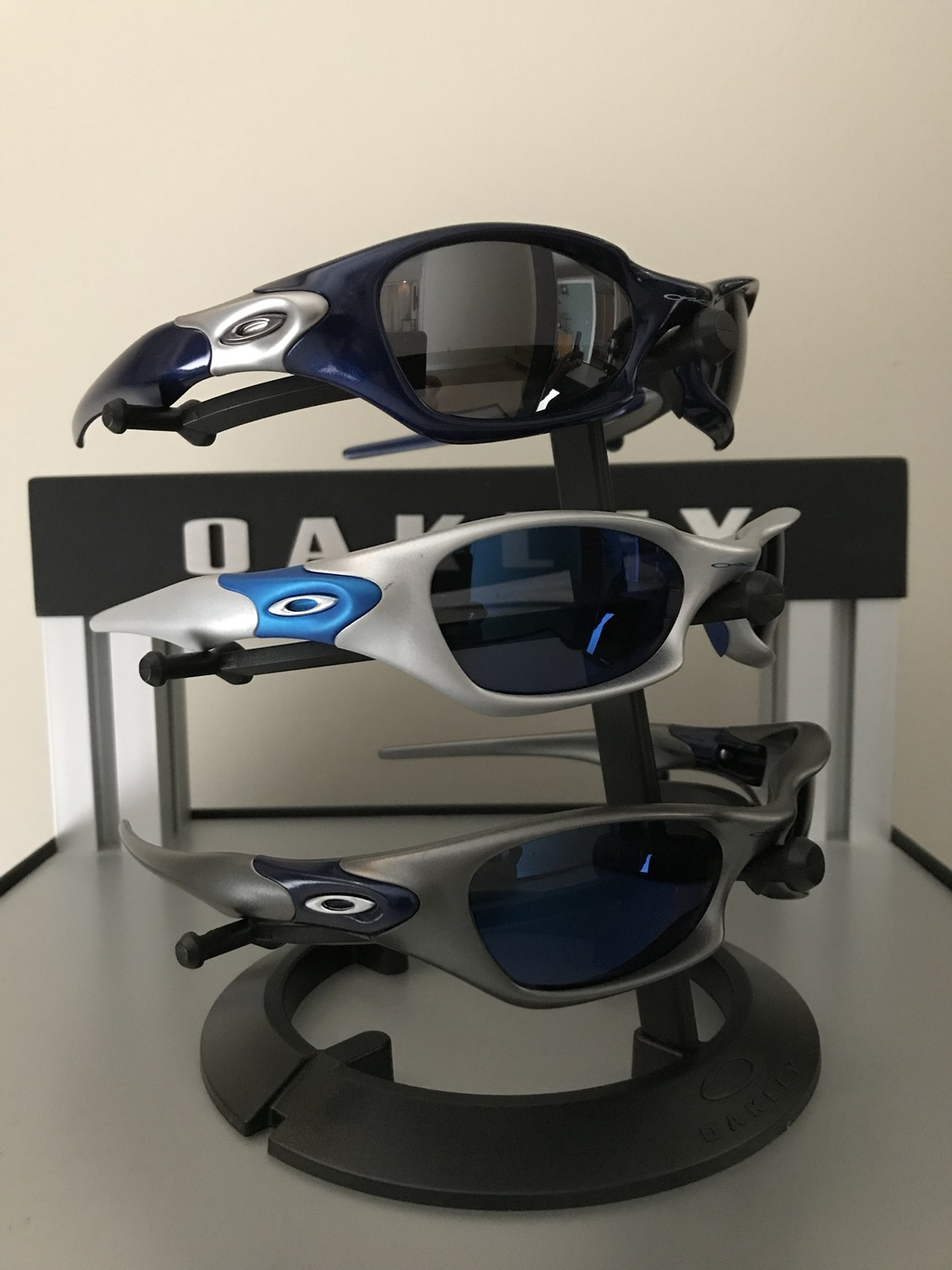 For Sale Oakley Valve 1 0 Bundle Blue Fmj Silver