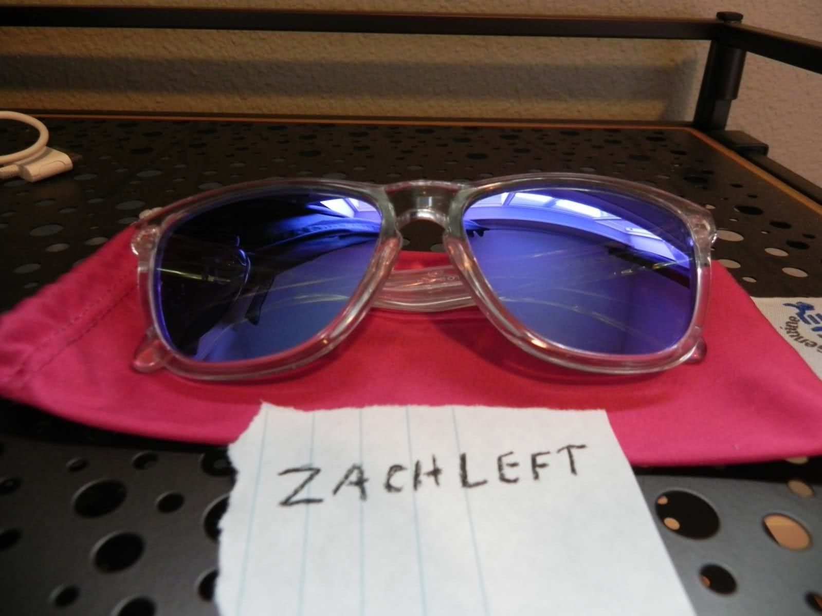 Oakley Frogskins Polished Clear W/ Violet Iridium Lenses - 4tt7h5.jpg