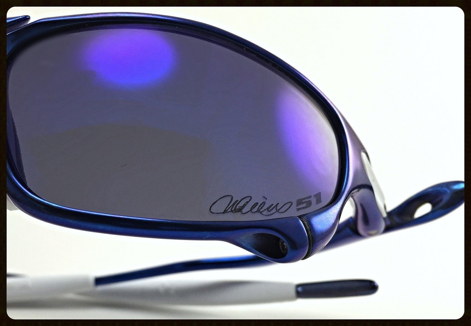 Blue Anodized Polished Juliet - Ichiro Style - 51 Anodized Blue Juliet with OO Blue Ichiro Lenses and White OEM Rubbers-2.jpg