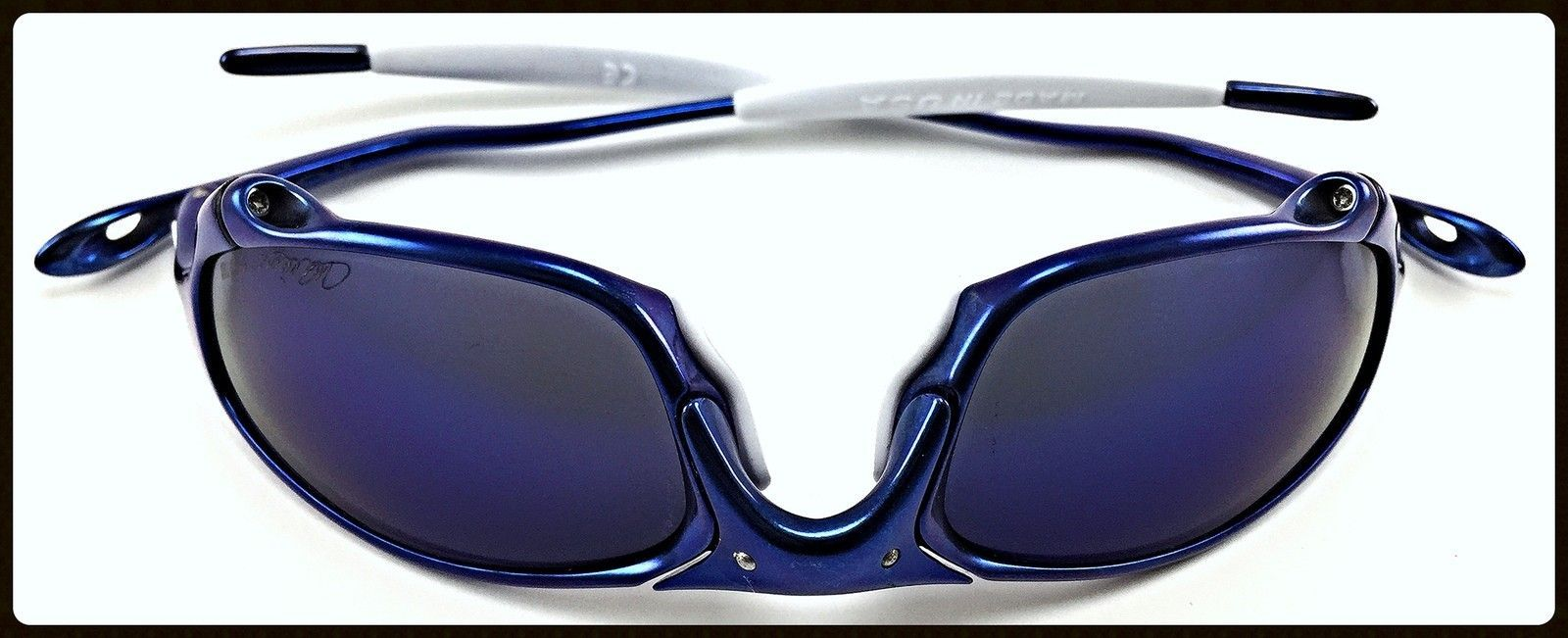 Blue Anodized Polished Juliet - Ichiro Style - 51 Anodized Blue Juliet with OO Blue Ichiro Lenses and White OEM Rubbers-6.jpg