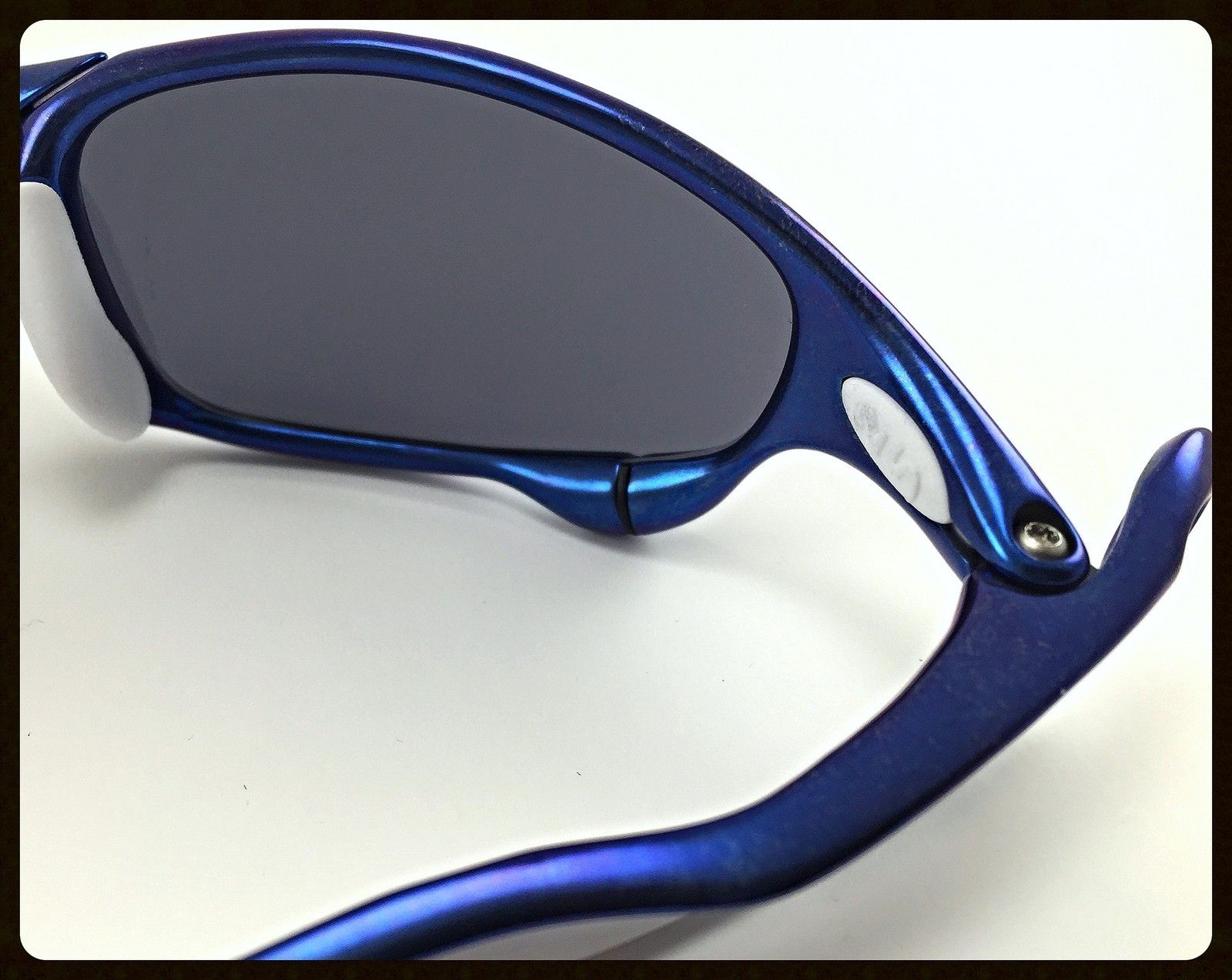 Blue Anodized Polished Juliet - Ichiro Style - 51 Polished Anodized Blue Juliet with OO Blue Ichiro Lenses and White OEM Rubbers-5.jpg