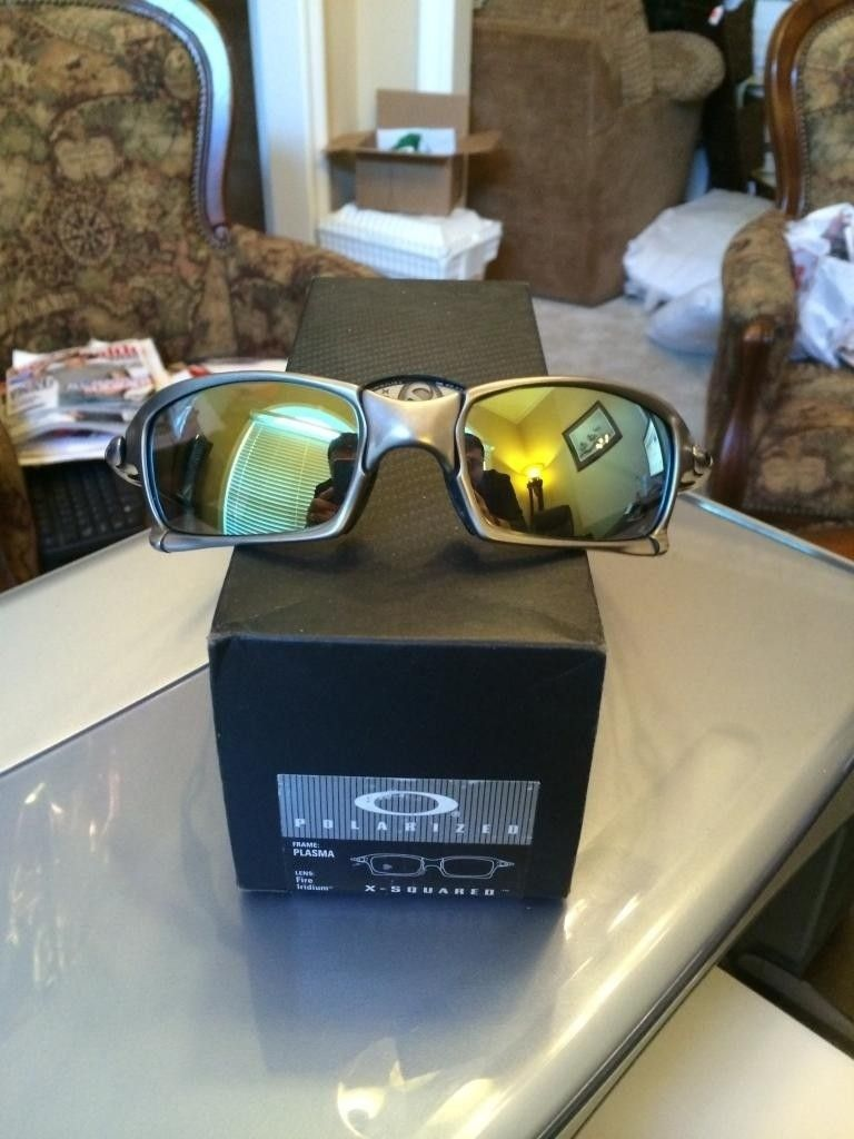 FS  Oakley X Squared Plasma Complete Displayed Only New - 581A6610-ED7A-4E38-9B32-56FF883F081B.jpg