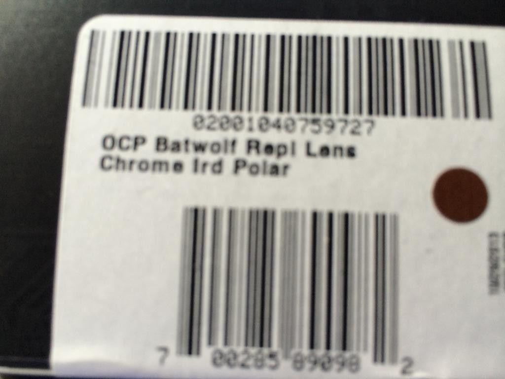 BRAND NEW Authentic Batwolf Chrome Iridium Polarized Replacement Lens RARE! - 59A0A3E3-9FA4-4E2F-8DF9-E8EFBAF0F6D2.jpg