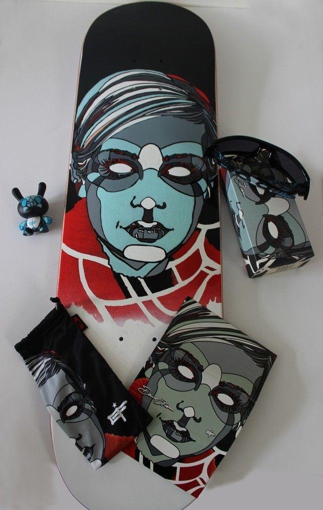 V2oak's 14th DIY: Custom David Flores Art REPLICA skate deck - 6_zpscozzurji.jpg
