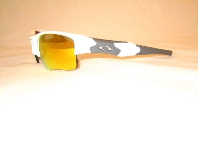 White Flak Jacket Xjl W/ Fire Iridium & Clear Lens - 8mrr.jpg