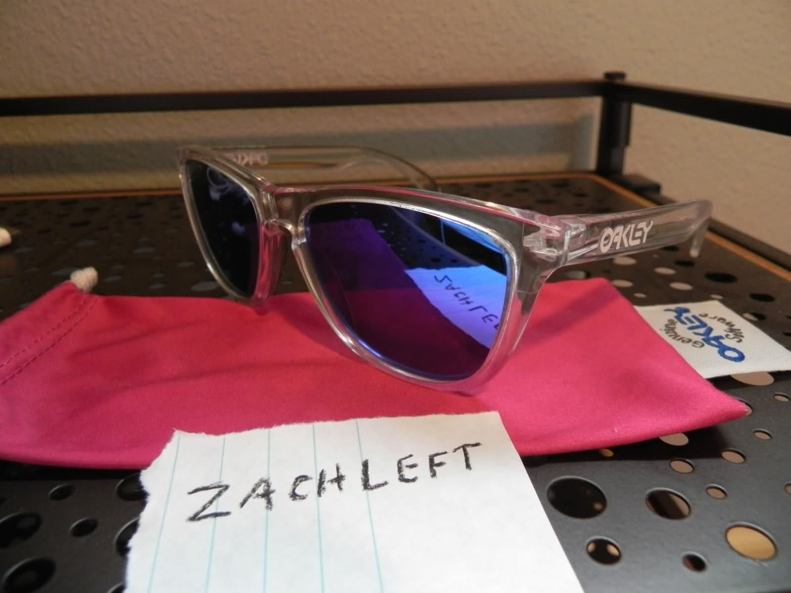 Oakley Frogskins Polished Clear W/ Violet Iridium Lenses - 8y9em9.jpg