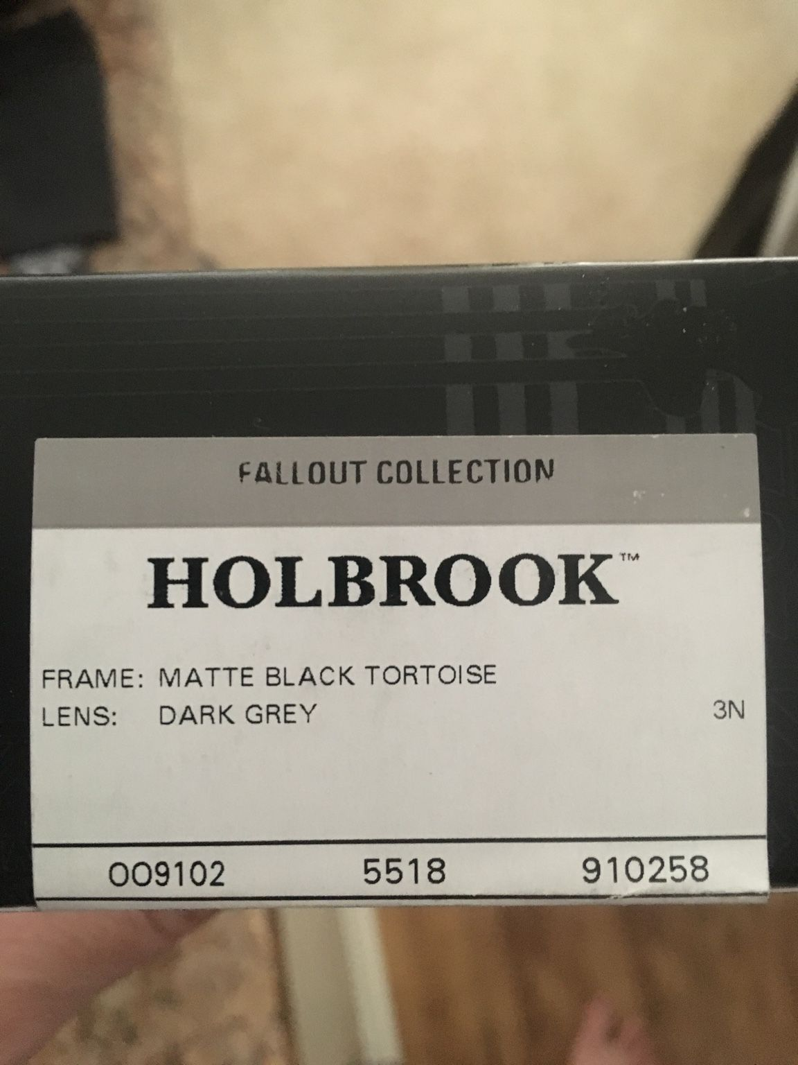 LNIB Holbrook Black Fallout Collection - 97aacd309f9454e46066b888b917a741.jpg