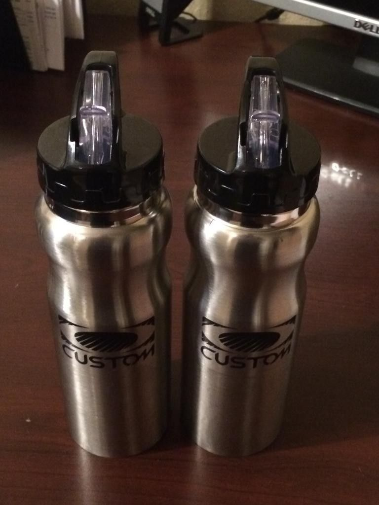 """Oakley """"Custom"""" Water Bottles Came As Gift With Purchase In 2012 Silver/Black - 97E22467-5801-4349-9956-A0CDBFD528F8.jpg"""