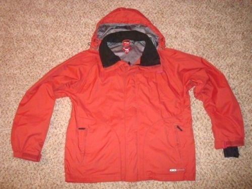 Vintage Retro Ski Snowboard Jacket Red Hydro Fuel 2002 2003 Era - $_12.JPG
