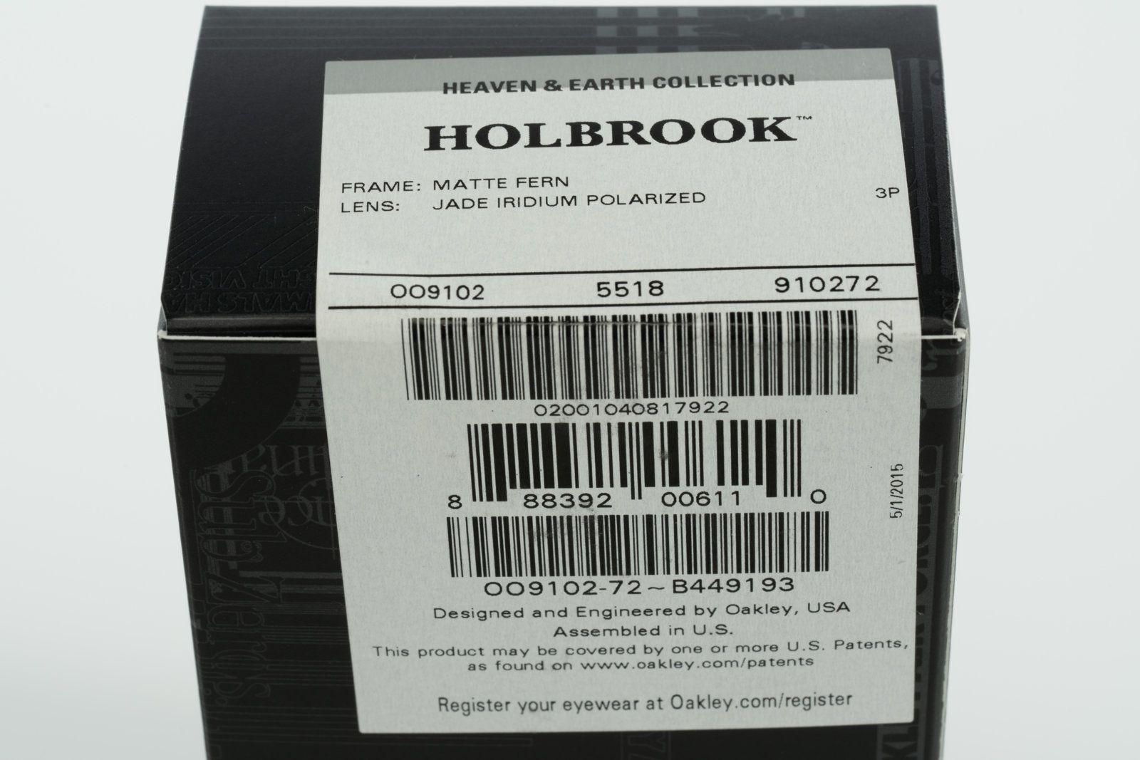 9c6fbf5576 ... NIB Oakley Holbrook Heaven   Earth Matte Fern Jade Iridium Polarized  OO9102-72 -  DSC3215