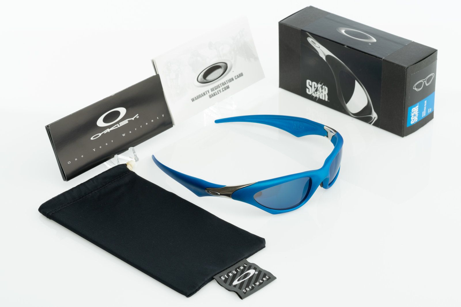 fb791771a5 NIB Oakley Scar Electric Blue with Ice Iridium 04-554 Serial A13218 -   DSC3503.