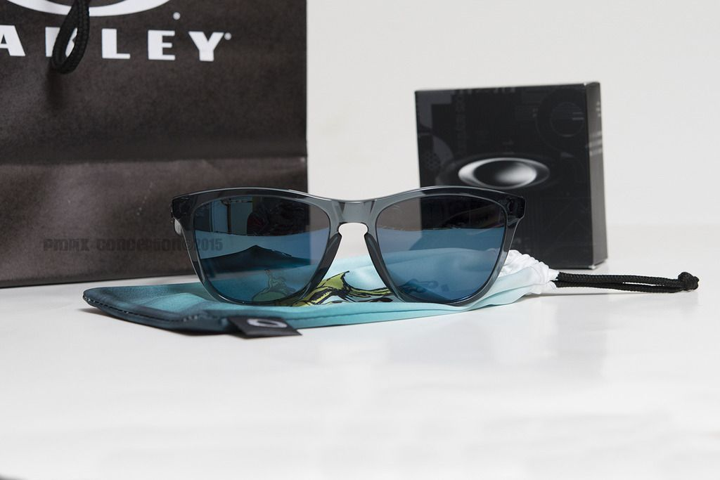 Cistomized Oakley Frogskins Black Tortoise &Crystal BLK+Ice Iridium Polarized - _DSC8095.jpg