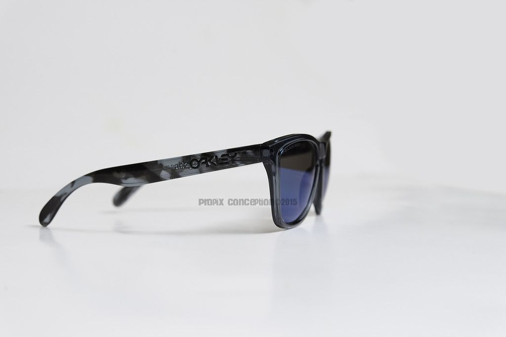 Cistomized Oakley Frogskins Black Tortoise &Crystal BLK+Ice Iridium Polarized - _DSC8099.jpg
