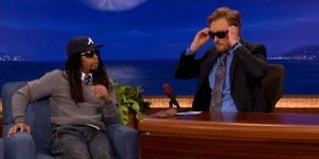 Lil John Gives Conan O'Brien Oakleys - bah7cgkkigw0njb4mjmwaqtx.jpg