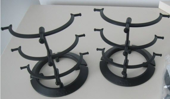 3 tier 3.0 stands and Sliver F tray - BLACK STANDS.jpg