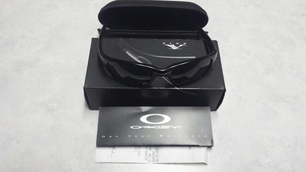 1st Generation Crystal Blue FIVES w/ Black Iridium Lenses - black52.jpg