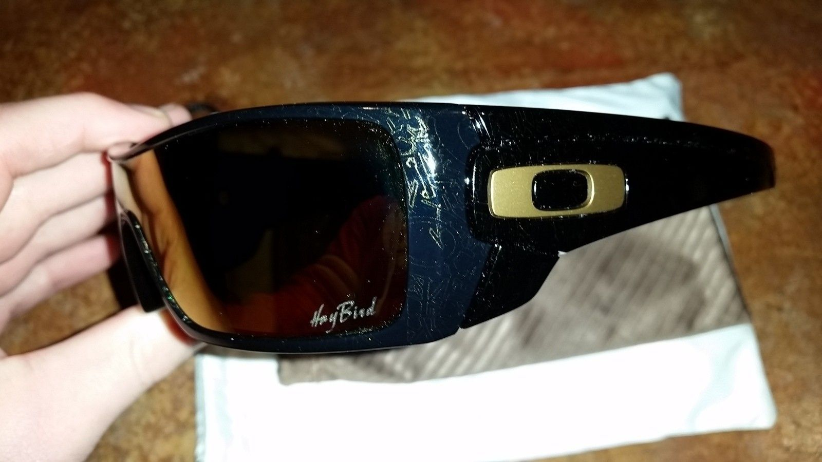 oakley sunglasses black and gold  My Batwolf Collection (7pairs)