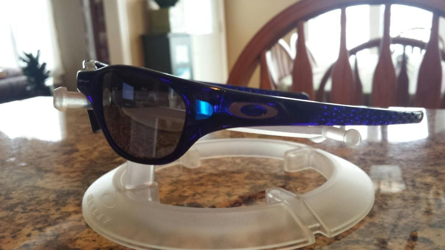 1st Generation Crystal Blue FIVES w/ Black Iridium Lenses - blue54.jpe