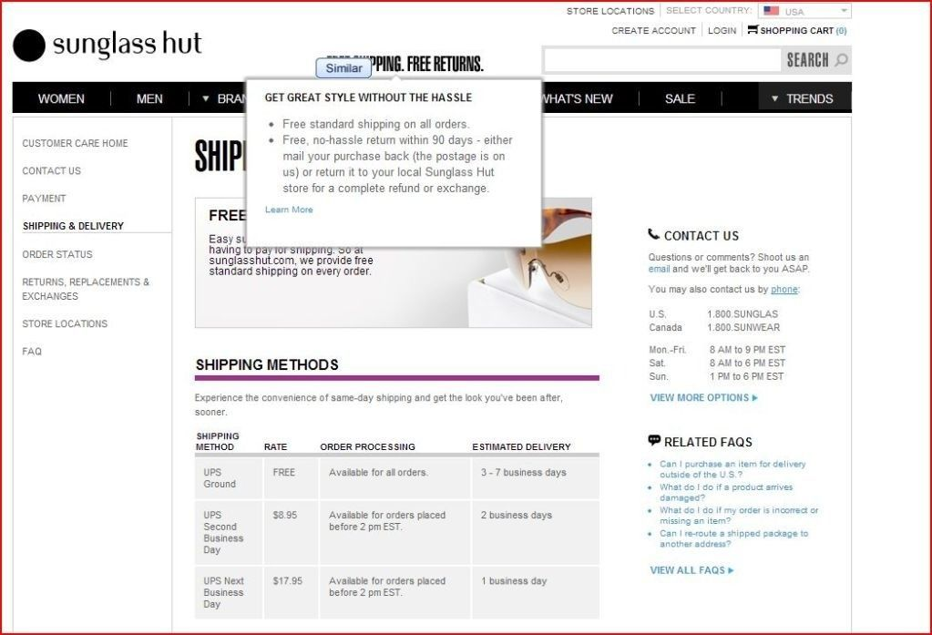 Sunglass Hut Exclusives CANNOT Be Exchanged Or Refunded, NO Box, ISSUES! - bullshit.jpg